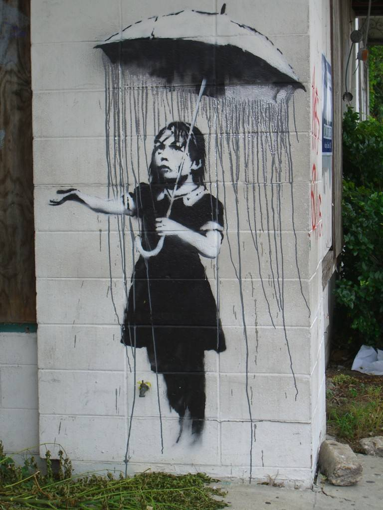 my 5 favorite banksy graffiti pieces boombotix skullyblog. Black Bedroom Furniture Sets. Home Design Ideas