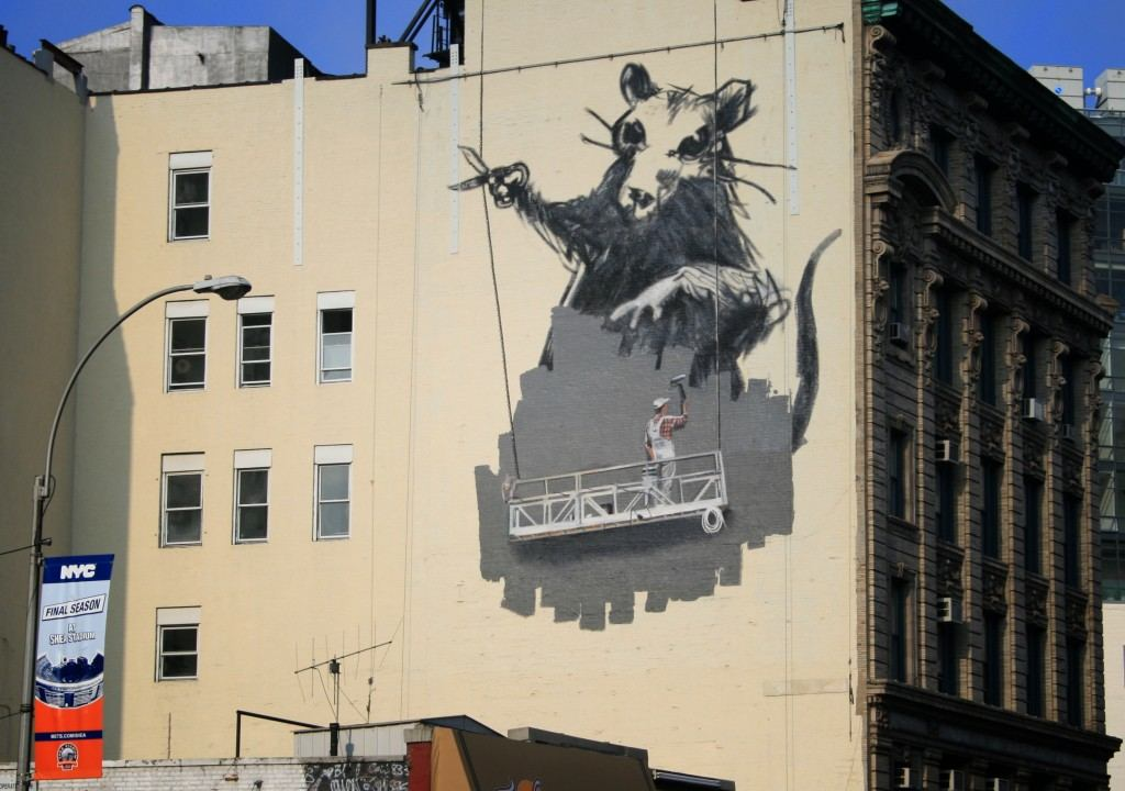 Street art utopia we declare the world as our canvas for Banksy mural painted over