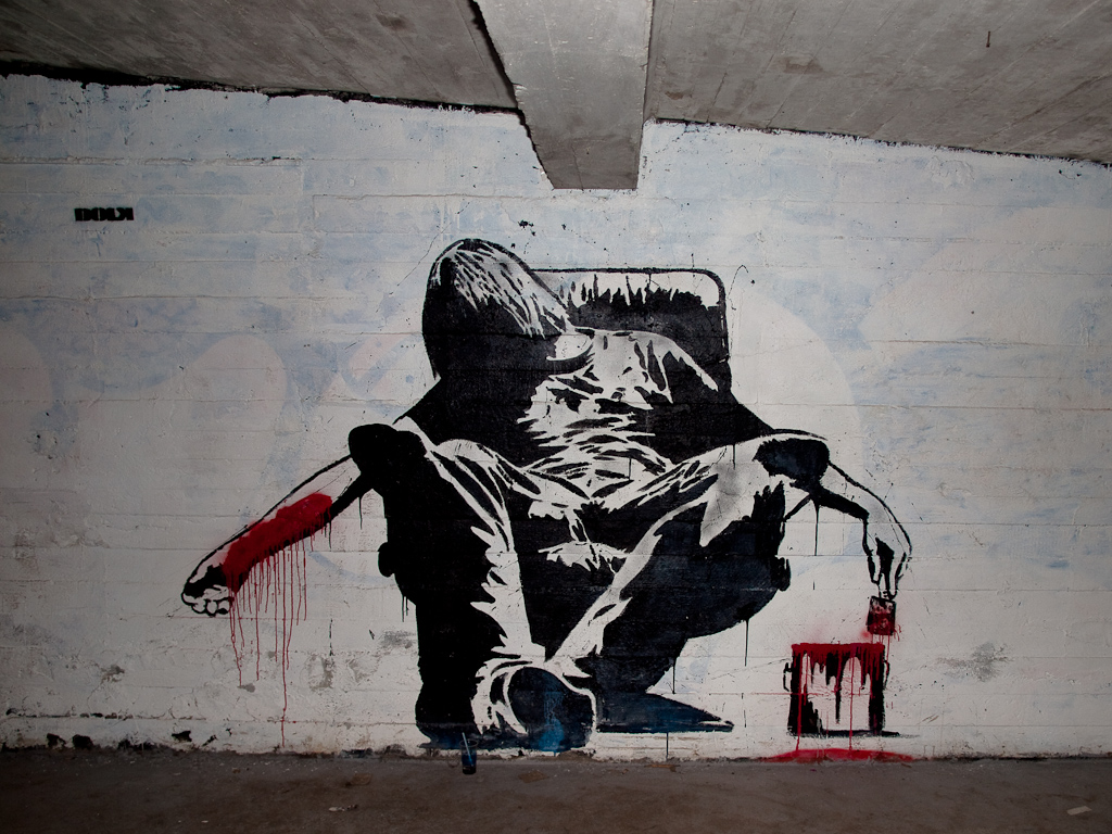 urban art stencil wall - photo #12