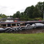 street art on boat By Phlegm