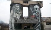 street art by corvara bolzano and trentino alto adige in italy