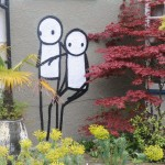 street art by stik in Dulwich london england uk 2