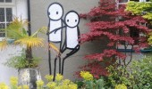 street art by stik in Dulwich london england uk 2