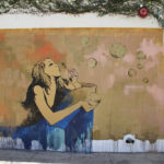 Street Art with bubbles in Los Angeles Kalifornien USA