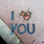 i love you street art by oakoak