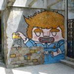 street art bricklayer