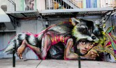 street art by herakut in francisco bay area, california, usa 1