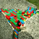 Lego Street Art in Warsaw, Poland