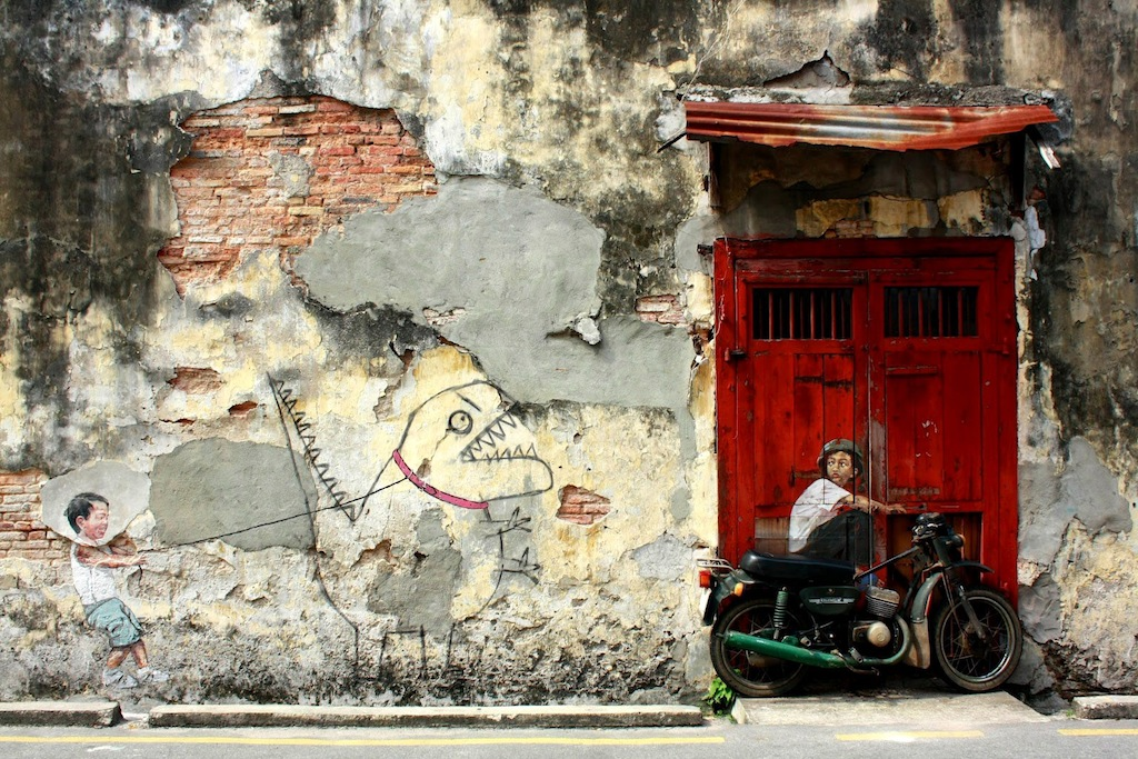 Street Art by Ernest Zacharevic in Penang, Malaysia - A Collection