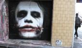 Street Art of Heath Ledger Joker in Hosier Lane, Melbourne, Australia