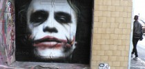 Street Art of Heath Ledger Joker in Hosier Lane, Melbourne, Australia