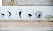 Street Art by Escif on Fame Festival in Grottaglie, Italy.