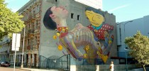 Street Art by Os Gemeos and Aryz at Urban Forms Gallery in Lodz, Poland 2