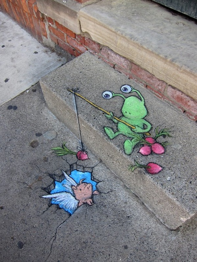 Calk Art by David Zinn 10