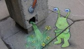 Calk Art by David Zinn 14
