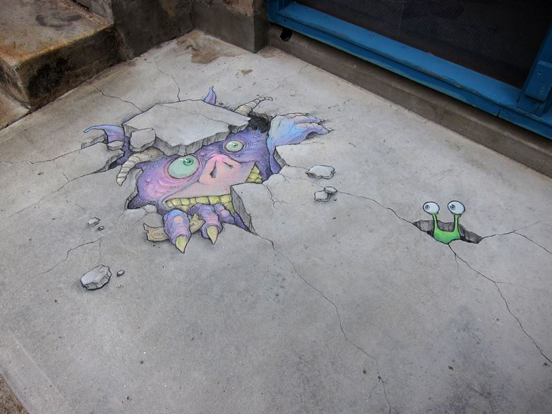 Calk art by David Zinn 29