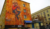 Mural by Robert Tone Proch in Lublin, Poland