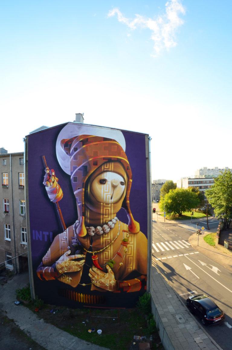 """Holy Warrior"" – By INTI in Lodz, Poland."