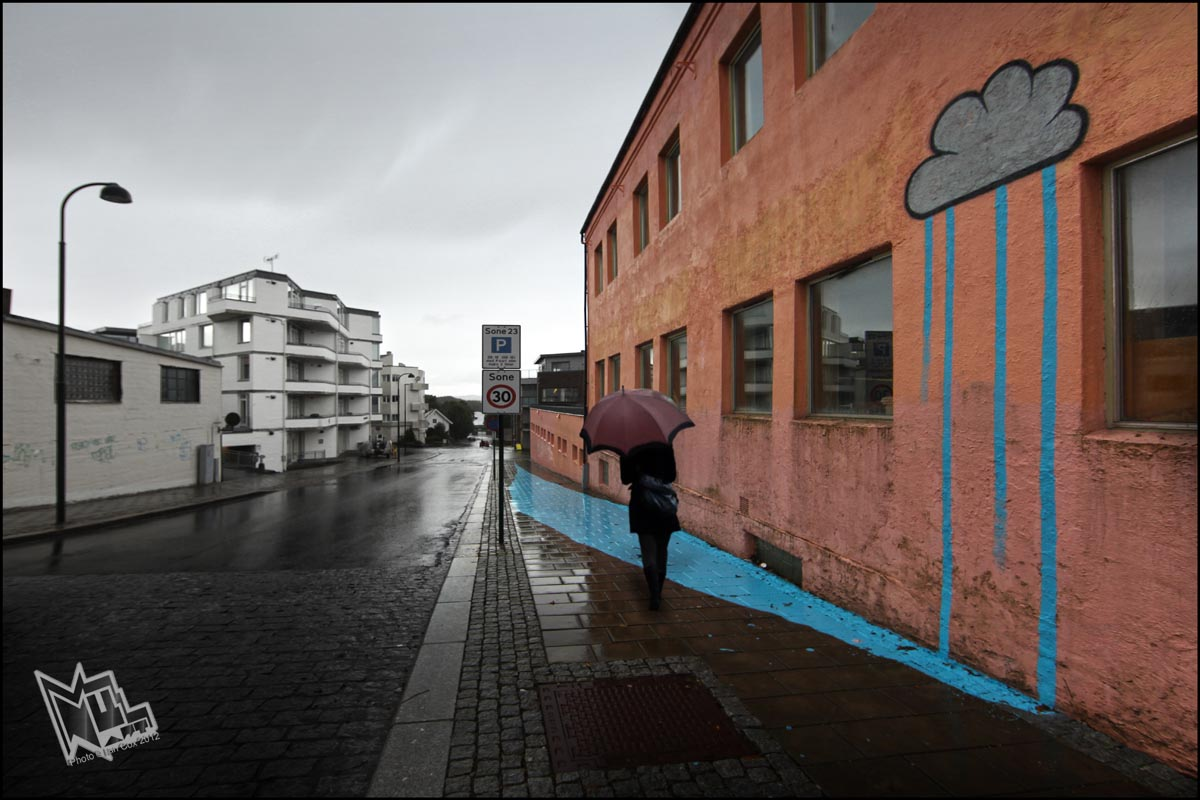 Street Art by Mobstr - At Nuart Festival in Stavanger, Norway