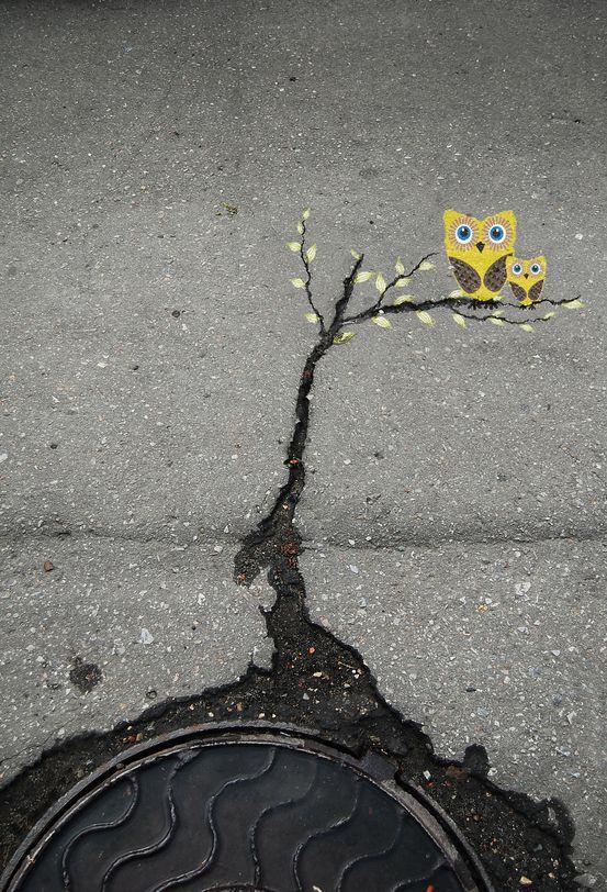 Street Art by Alexey Menschikov in Russia
