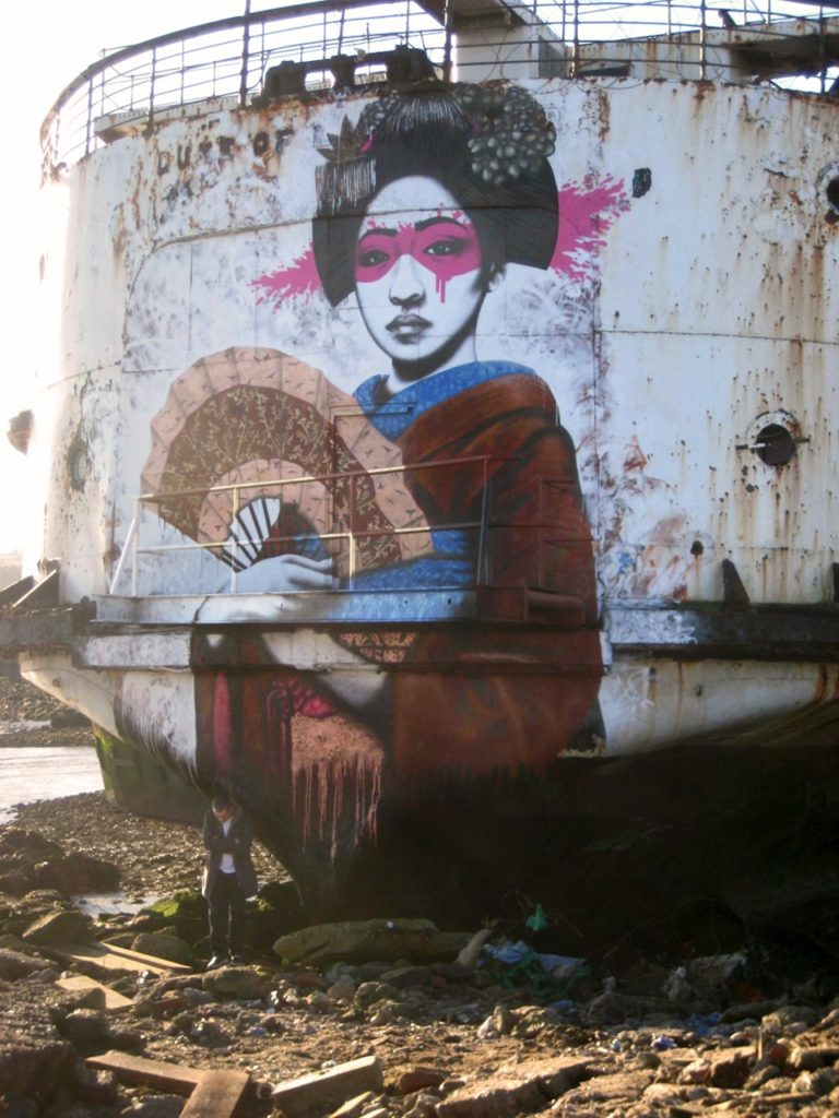 Street Art by Fin DAC at The Black Duke in North Wales, England 5