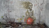 Street Art in Pripyat, Ukraine. Close to Chernobyl