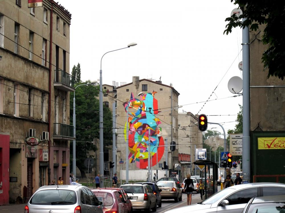 10 1 Galeria Urban Art Forms in Lodz, Poland. By Kenor