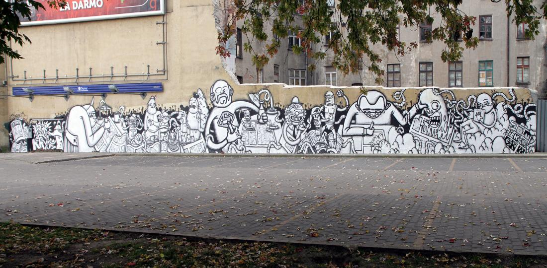 10 Galeria Urban Art Forms in Lodz, Poland. By Krik