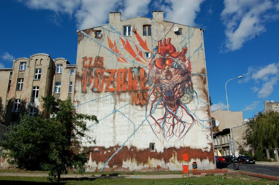 11 Galeria Urban Art Forms in Lodz, Poland. By Lump