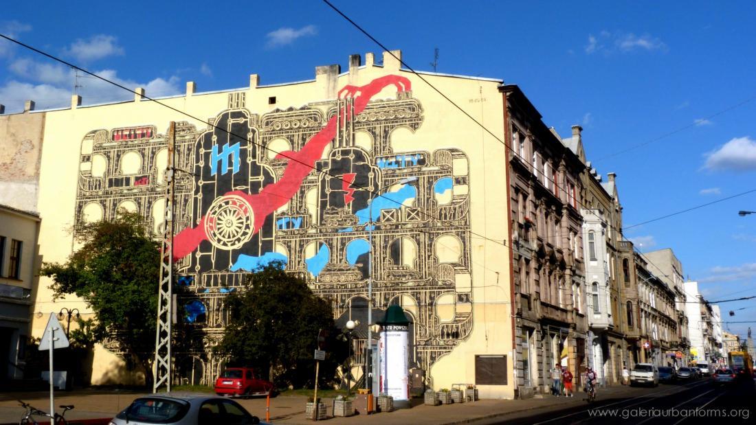 12 Galeria Urban Art Forms in Lodz, Poland. By M-Cityg