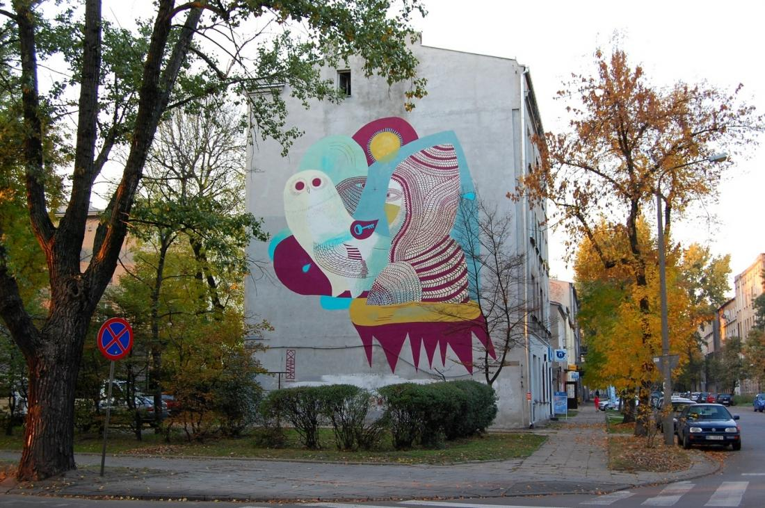 15 Galeria Urban Art Forms in Lodz, Poland. By Otecki