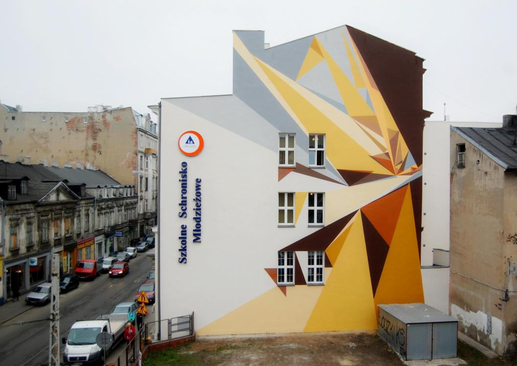 16 Galeria Urban Art Forms in Lodz, Poland. By Pener