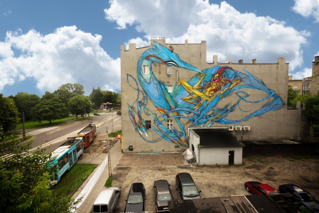 20 Galeria Urban Art Forms in Lodz, Poland. By Shida