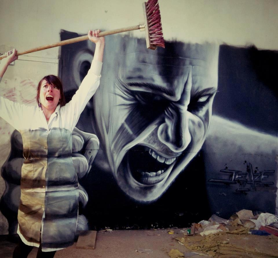 3D graffiti by Jeaze