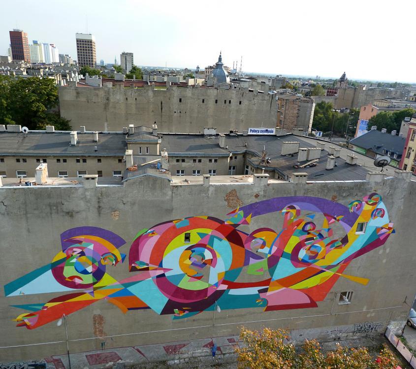 9 Galeria Urban Art Forms in Lodz, Poland. By Kenor 2