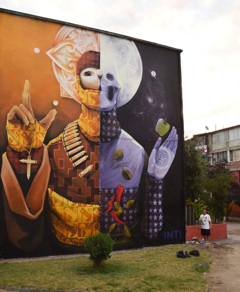 Street Art by INTI – In Santiago, Chile