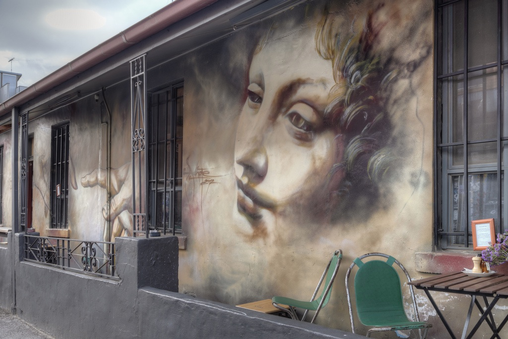 Street Art by Adnate. In Fitzroy, Melbourne, Victoria, Australia