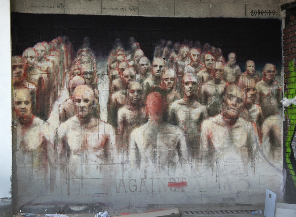 Street Art by Borondo in Paris, France