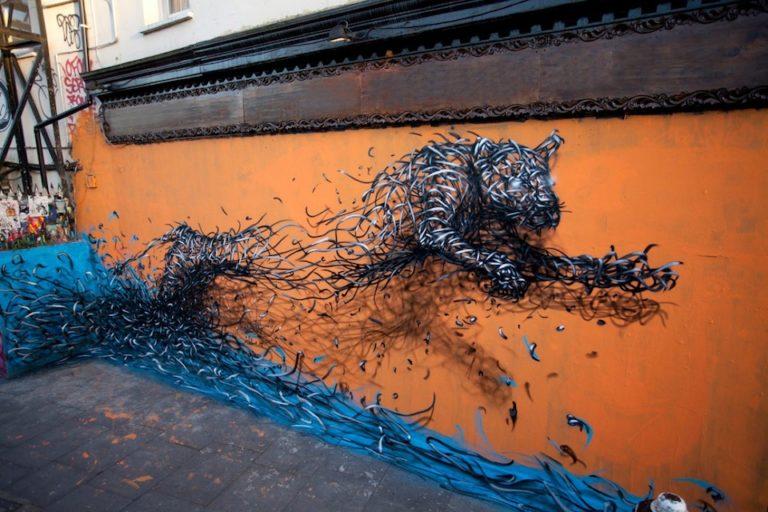 Street Art by DALeast in London, England
