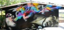Graffiti by Chemis in Greece