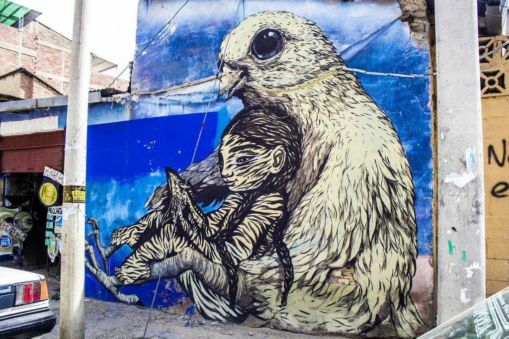 Street Art by Bastardilla and Erica il Cane at BAU13 2