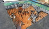 3D Street Art by Tracy Lee Stum in Madonnari, Italy at Madonnari Street Painting Festival, 2012