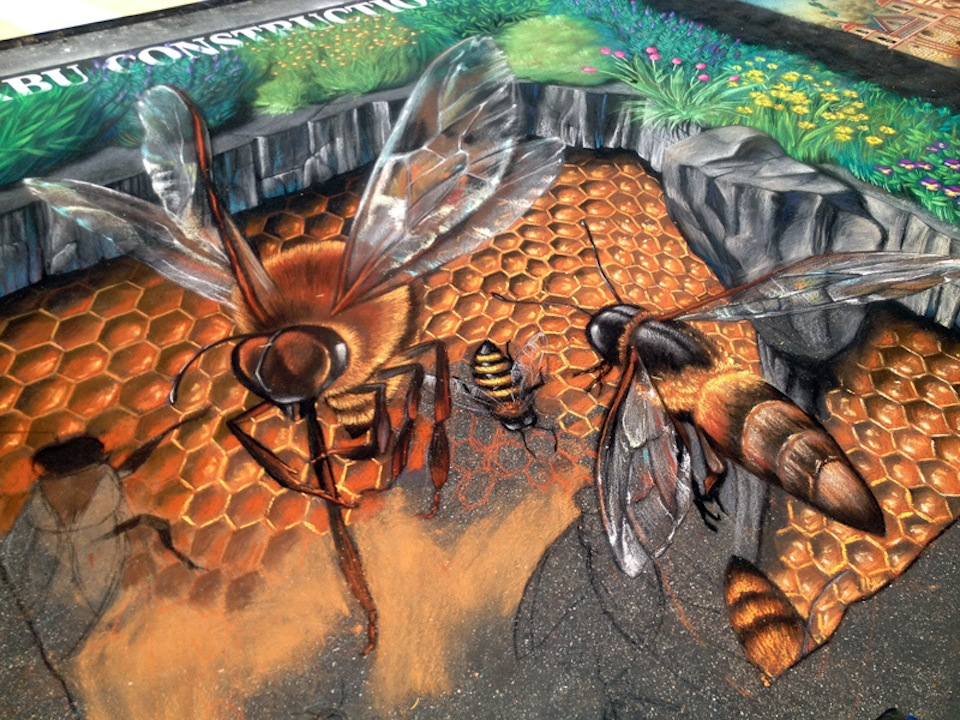 3D Street Art by Tracy Lee Stum in Madonnari, Italy at Madonnari Street Painting Festival, 2012 2