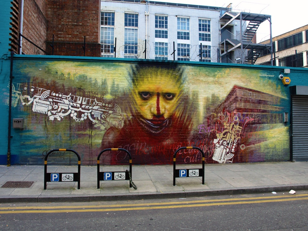 Street Art by Dale Grimshaw in London, England