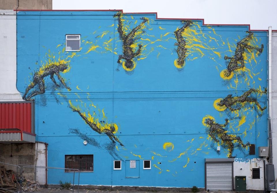 Street Art By DALeast in Bristol, UK 1