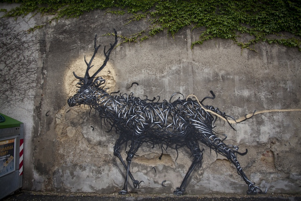 Street Art by DALeast -'一', In Vienna, Austria 2
