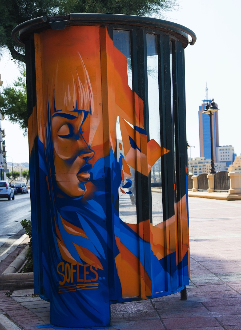 By Sofles at the Sliema Street Art Festival. Photo by Asperholm Productions in Sliema, Malta