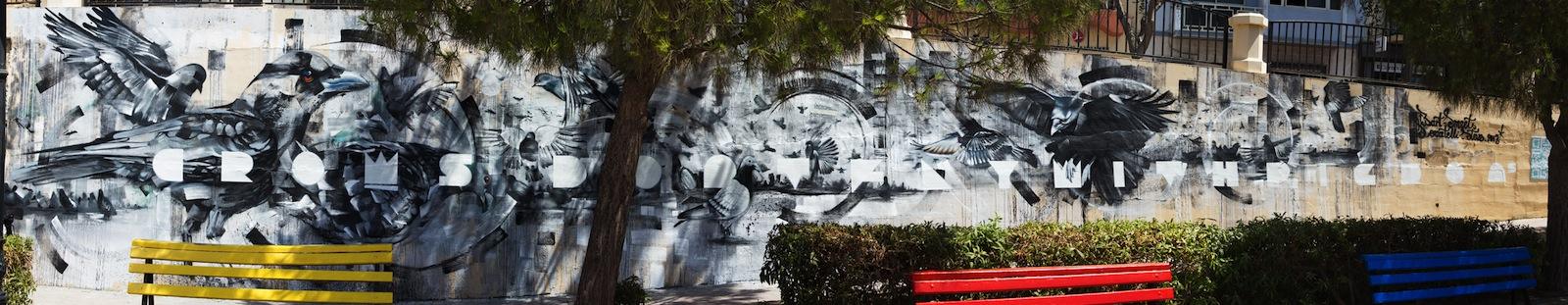 By Steve Locatelli and Smates at the Sliema Street Art Festival. Photo by Asperholm Productions in Sliema, Malta 2