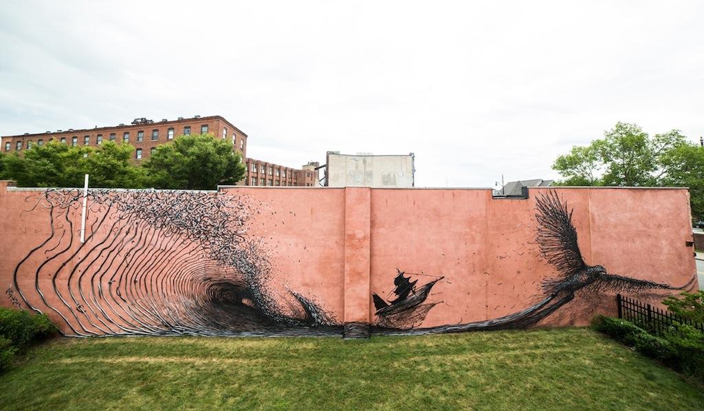 Street Art by DALeast in, Rochester NY 2