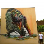 Street Art by Hopare in Orsay, France 1